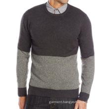 Men′s Diaz Color-Block Middle-Aged People Crew Sweater