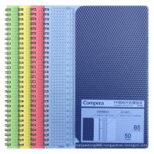 Comix Diamond Translucent PP Cover Dot Grid Spiral Bound Notebook