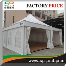 14x14m high peak event tent with wooden floor for 150 people