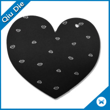 Heart Shaped Black Brand Name Label Tags for Kids Clothing