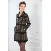 завод оптовая продажа Slim-подходят 100% чисто женские длинные кашемировые пальто