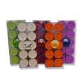 8g - 23g farbige Teelicht Kerzen in Metallschalen