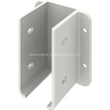 Pulverbeschichtete Zaunhalterung aus weißem Metall
