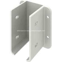 Powder Coated White Metal Fence Panel Mounting Bracket