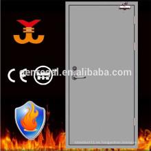 Puerta de acero al ras con resistencia al fuego