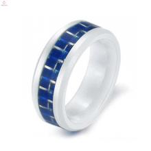 Новые корейские кольца для влюбленных углеродного волокна белый керамические кольца для мужчин кольца