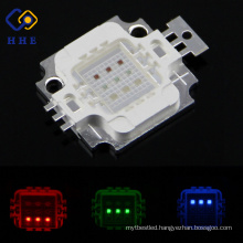 9w rgb high power led lamp 120 or 140 degrees moulding