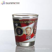 Sunmeta 1.5oz Blank Sublimation Mini verre à vin fabriqué en Chine à prix concurrentiel en gros