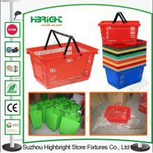Supermarché panier d'épicerie en plastique, panier
