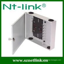 12 núcleos montagem de parede caixa de fibra óptica
