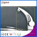 Fyeer único punho & buraco cromo banheiro lavatório torneira torneira misturadora de água