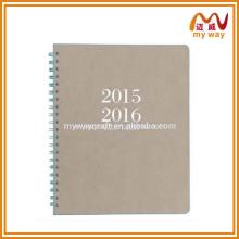20152016 design espiral notebbook com soft kraft cover on alibaba