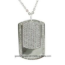 Прохладный дизайн и женщин Мода стерлингового серебра Подвеска Мужчины и женщины ожерелье P5066