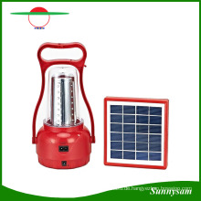 Einstellbare Helligkeits-Solarhandlampe im Freien / Portable 35 LED kampierendes Laterne-wieder aufladbares Notsolarlicht