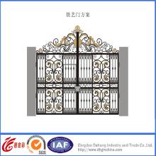 Portão de segurança fino elegante de ferro forjado