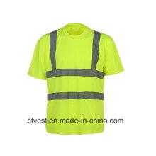 3m Ruban réfléchissant à haute visibilité Sécurité Polo Vêtements de sécurité avec en ISO