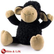 Kundengebundener Soem-Entwurf schwarzes Schafplüschspielzeug