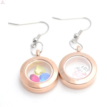 heart shape openable magnetic glass floating locket pendant with charm jewelry