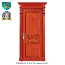 Porte en bois massif de style chinois pour l'intérieur avec Roma (ds-8035)