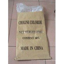 Chlore de transporteur de choline de maïs COB 60%