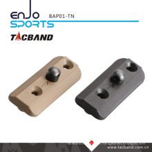 Tacband Tactical Bipod Adaptor for Keymod - with Bipod Stud Tan