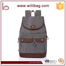 Sacos da mochila da lona do cordão da alta qualidade para a trouxa dos homens