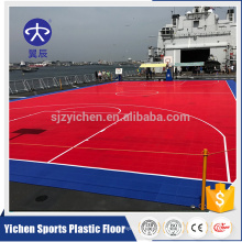 Outdoor usage thermostability interlocking basketball court tiles