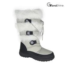 Botas de nieve de invierno con cordones para mujer