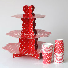 3 Tire Corrugated Paper Custom Designed Display Cake Stand for Party