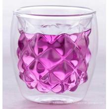 vaso de vidrio doble pared