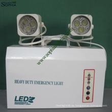 Neue 12V9ah 7W High Power Twin Heads LED Notlicht mit Fernbedienung