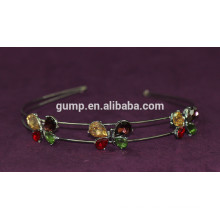 Bind del pelo de los niños del Rhinestone de la venda coreana de las muchachas del diseño de la mariposa