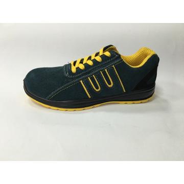 Замша верхний кожаные подошвы PU работу безопасности обуви
