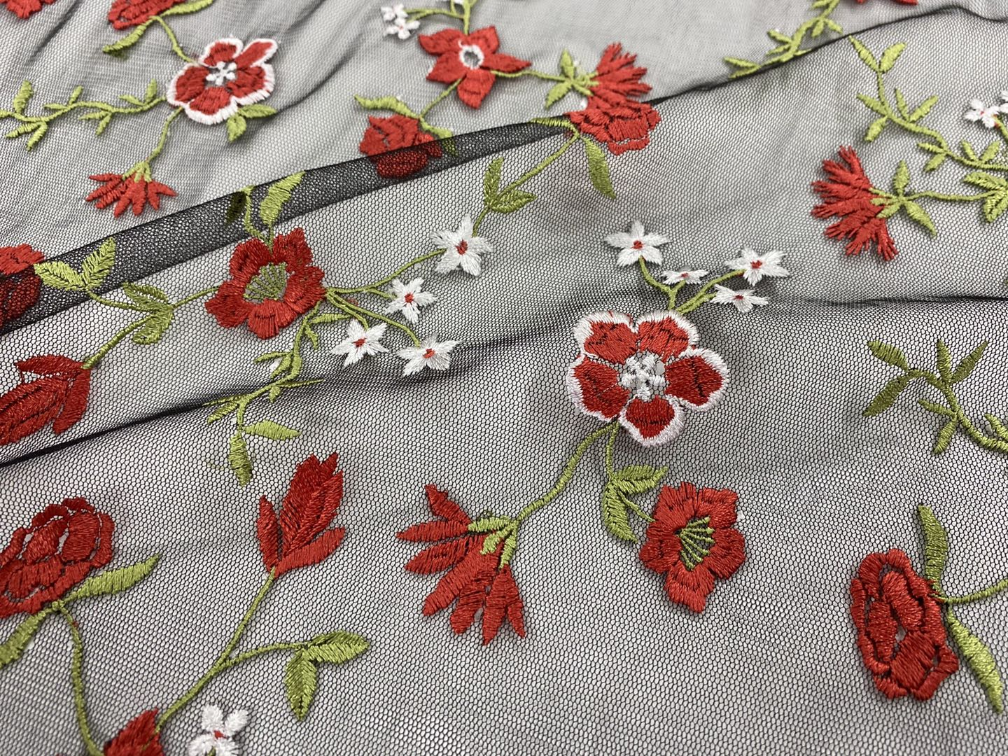 Multicolor Embroidery Fabric