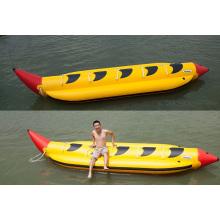 Eigentümliche Form lange aufblasbare Bananenboot Wasser