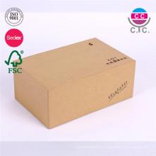Китай завод дешевые бумажная коробка ботинка бумаги Kraft с крышкой