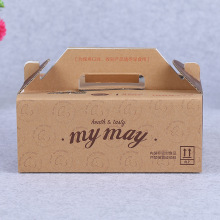 Custom Logo Printed Take Away Food Paper Lunch Box Wholesale Price Brown Picnic Paper Gable Boxes