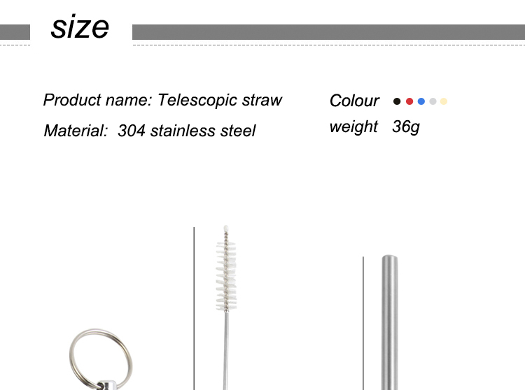 Collapsible Bubble Tea Metal Straw