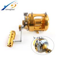 FSTR050 нового производства 2 скорость все металлические материалы большая игра троллинг катушка