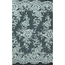 Wholesale embroidery french hem lace Fabric /3d embroidery bridal wedding lace