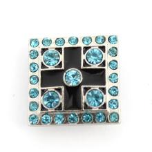 Bracelet Fastener Square Crystal Alloy Fashion Button