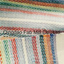 Linda e moda tecido de linho listrado (qf16-2502)
