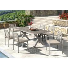 Tables et chaises d'extérieur en aluminium