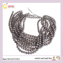 9-10mm Potato Shape Lose Pearl Strings Gray Quality Pearls