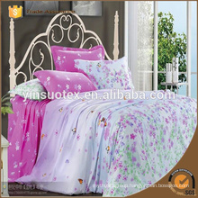 woven king 4 pcs plain printed adult home bedding set