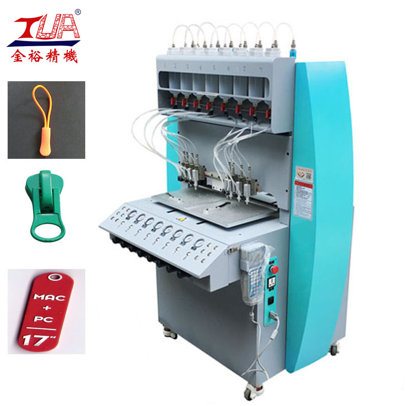 Dongguan-8-Color-PVC-Injection-Zipper-Making