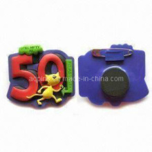 Hot Selling Soft PVC Pins with Safety Pins (Pin-03)