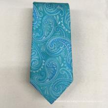 Diseño italiano de Paisley Jacquard Oem de calidad superior para corbata de lujo 100% seda