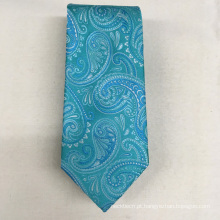 A qualidade a mais atrasada italiana de Oem do jacquard de Paisley do projeto para o laço de seda do luxo 100% dos homens