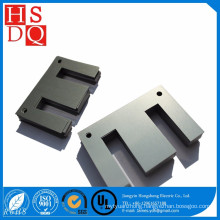 Iron coil cores and steel with high magnetic strength
